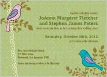 Wedding Invitation - birds