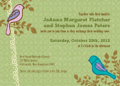 Wedding Invitation - Birds