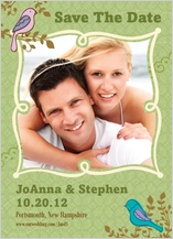 Save the Date Card with photo - birds