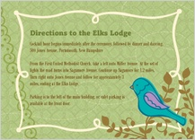 Reception Card - birds