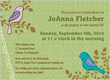 Wedding Shower Invitation - birds