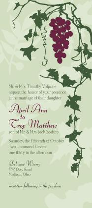 Wedding Invitation - Grapes
