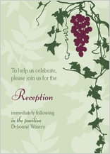 Reception Card - grapes