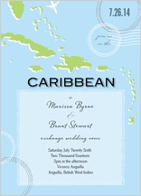 Wedding Invitation - caribbean wedding
