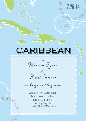 Caribbean Wedding - Wedding Invitation Look Love Send