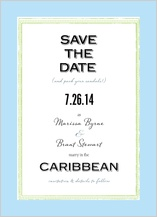 Save the Date Card - caribbean wedding