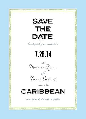 Save the Date Card - Caribbean Wedding