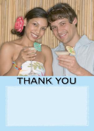 Wedding Thank You Card with photo - Caribbean Wedding