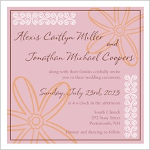 Wedding Invitation - fields