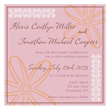 Wedding Invitation - Fields