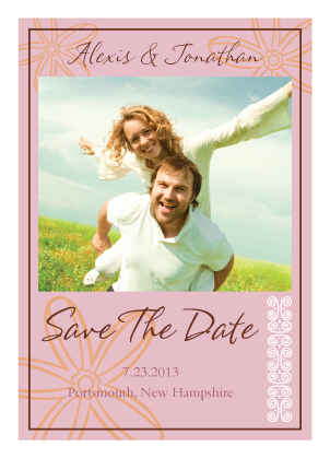 Save the Date Card with photo - Fields