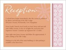 Reception Card - fields