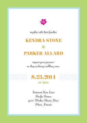 Wedding Invitation - Destination Hawaii