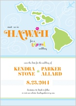 Save the Date Card - destination hawaii