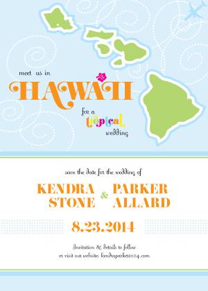 Save the Date Card - Destination Hawaii