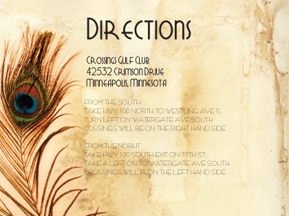Direction - Peacock Bliss