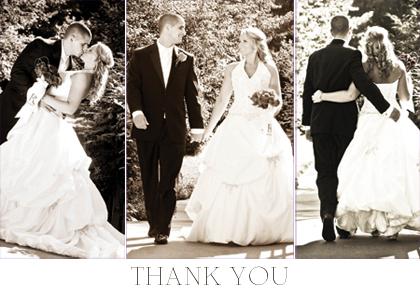 Wedding Thank You Card - Thank You