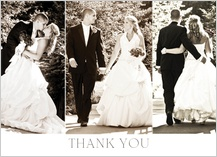 Wedding Thank You Card with photo - thank you