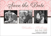 Save the Date Card with photo - rose - save the date