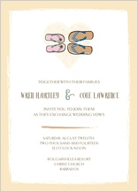 Wedding Invitation - sandals