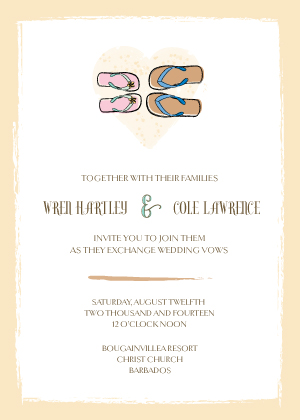 Wedding Invitation - Sandals