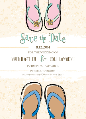 Save the Date Card - Sandals