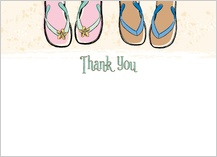 Wedding Thank You Card - sandals