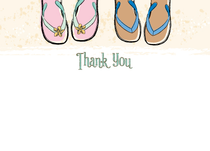 Wedding Thank You Card - Sandals