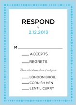 Response Card with menu options - simply cirque