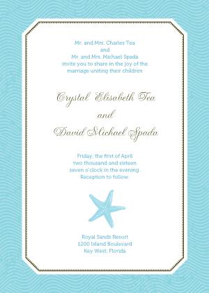 Wedding Invitation - La Isla Bonita