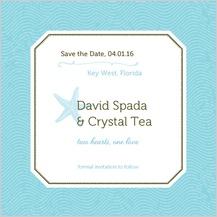 Save the Date Card - la isla bonita