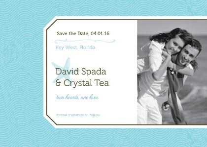 Save the Date Card with photo - La Isla Bonita