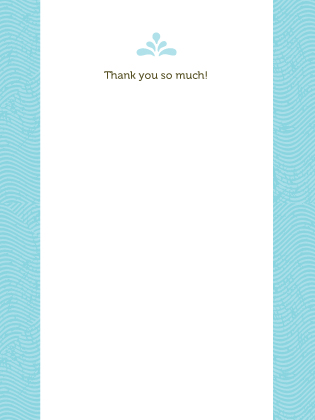 Wedding Thank You Card - La Isla Bonita