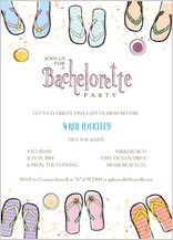 Bachelorette Party Invitation - beachy bachelorette