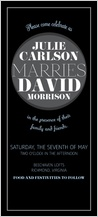 Wedding Invitation - modern spotlight