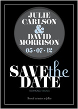 Save the Date Card - modern spotlight
