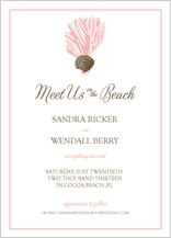 Save the Date Card - sea. sand. love