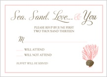 Response Card - sea. sand. love