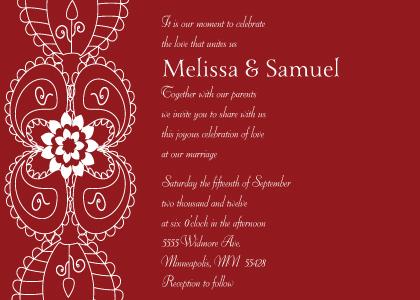 Wedding Invitation - Moroccan Style
