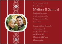 Wedding Invitation with photo - moroccan style
