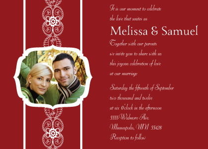 Wedding Invitation with photo - Moroccan Style