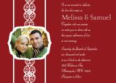 Wedding Invitation with photo