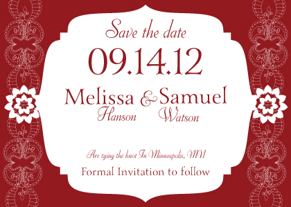 Save the Date Card - Moroccan Style