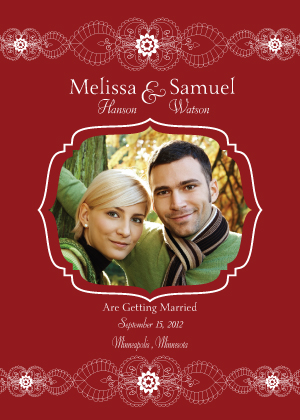 Save the Date Card with photo - Moroccan Style