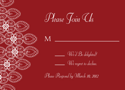 Response Card - Moroccan Style