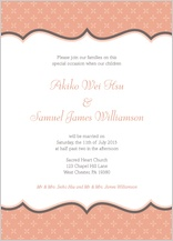 Wedding Invitation - tres chic