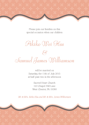 Wedding Invitation - Tres Chic