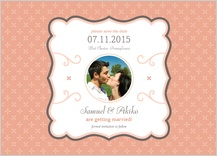Save the Date Card with photo - tres chic