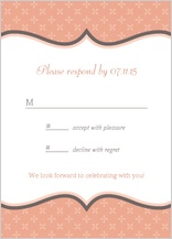 Response Card - tres chic