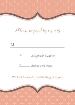 Response Card - Tres Chic